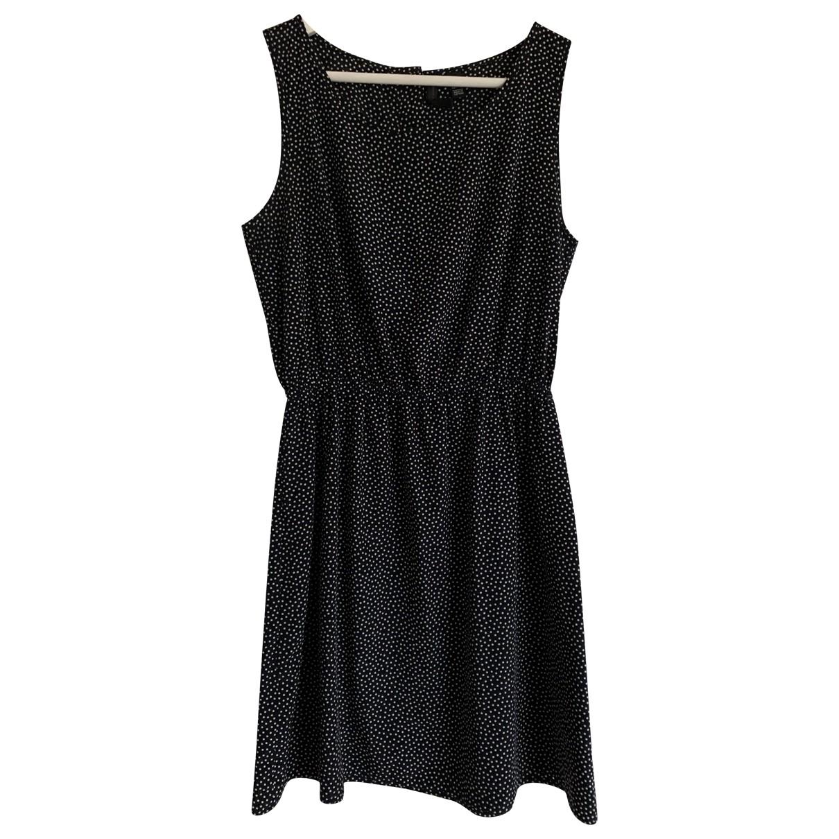 Mango \N Kleid in  Marine Baumwolle