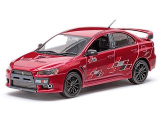 Mitsubishi Lancer Evolution X 10 Ralliart Metallic Red 1/43 by Vitesse
