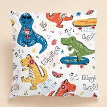 Kids Cartoon Graphic Cushion Cover Without Filler