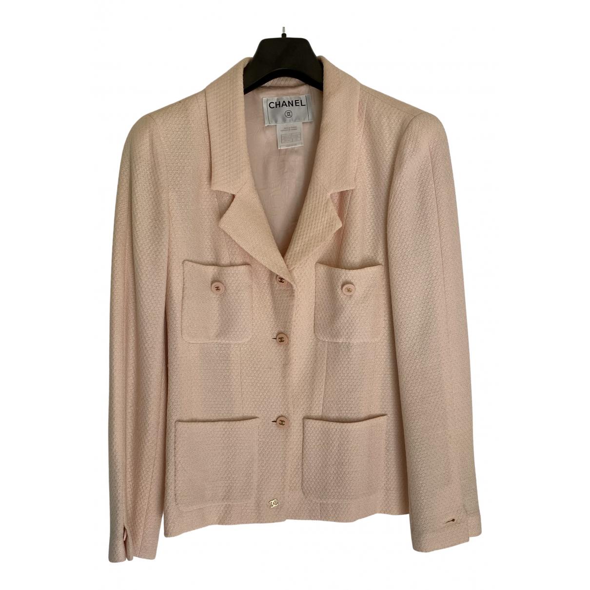 Chanel - Veste   pour femme en coton - rose
