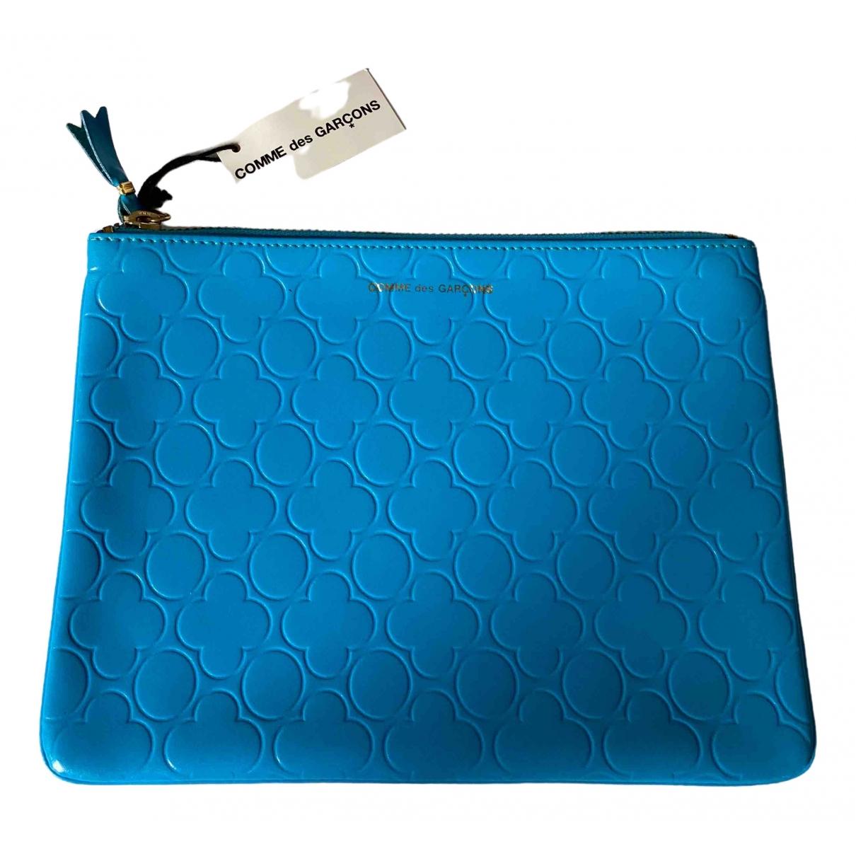 Comme Des Garcons \N Portemonnaie in  Blau Leder