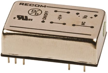Recom RP08 AW 8W Isolated DC-DC Converter Through Hole, Voltage in 9 → 36 V dc, Voltage out 3.3V dc Railway