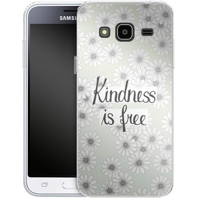 Samsung Galaxy J3 (2016) Silikon Handyhuelle - Kindness is Free von Barlena