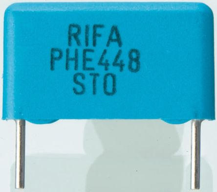 KEMET 10nF Polypropylene Capacitor PP 1.6 kV dc, 650 V ac ±5% Tolerance Through Hole PHE448 Series (10)
