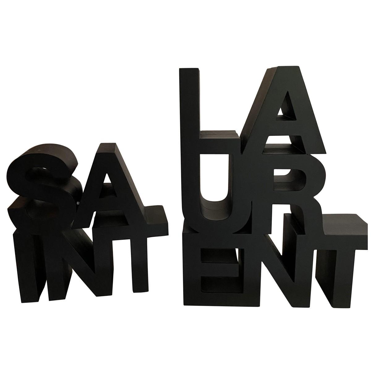 Saint Laurent - Objets & Deco   pour lifestyle en bois - noir