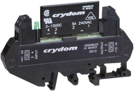 Sensata / Crydom 5 A rms SPNO Solid State Relay, Zero Cross, DIN Rail, 530 V ac Maximum Load