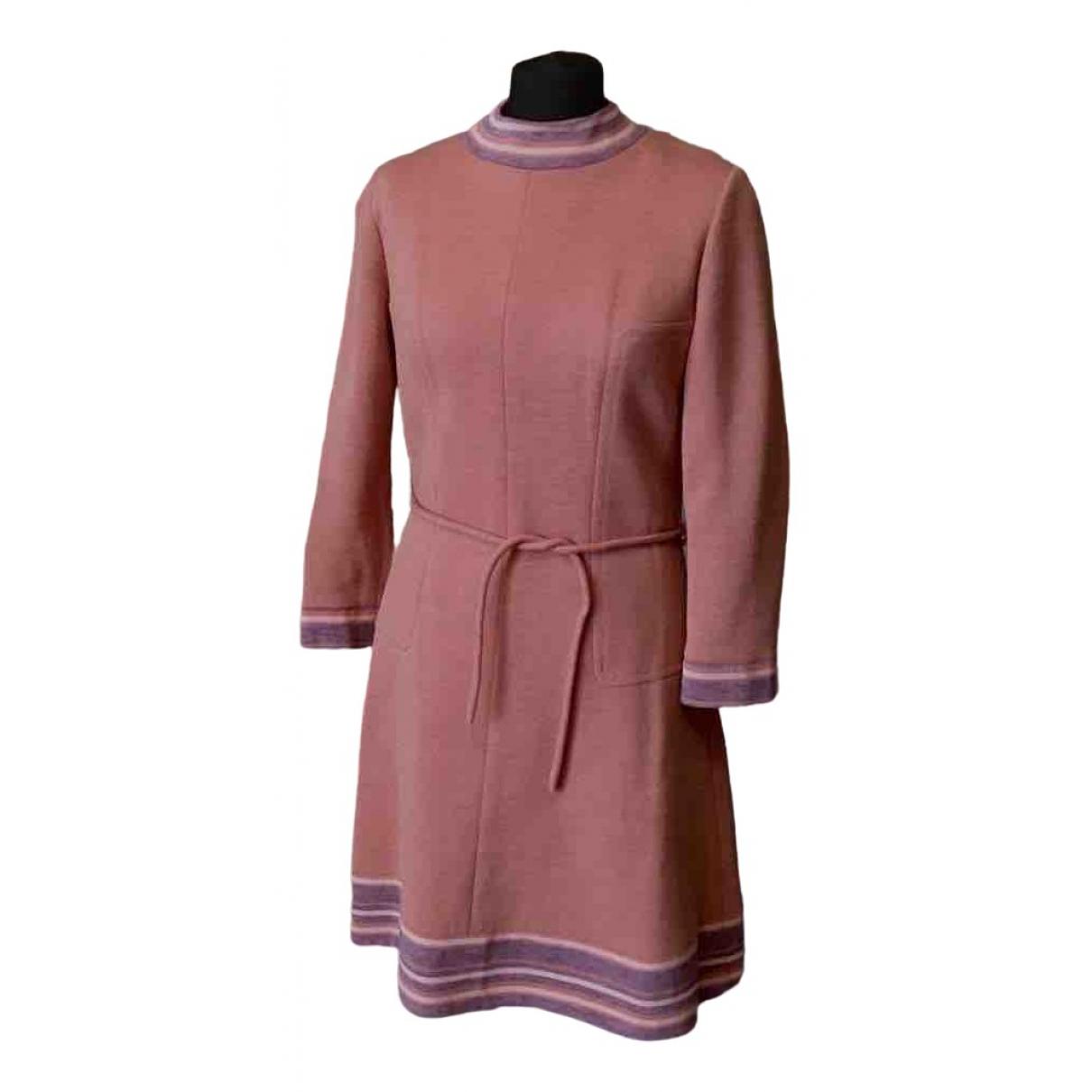 - Robe   pour femme en laine - rose