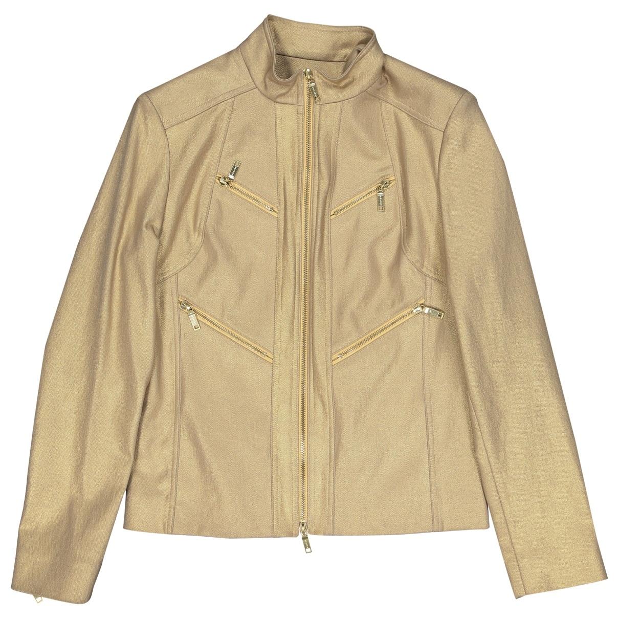 Celine \N Gold Cotton jacket for Women 40 FR