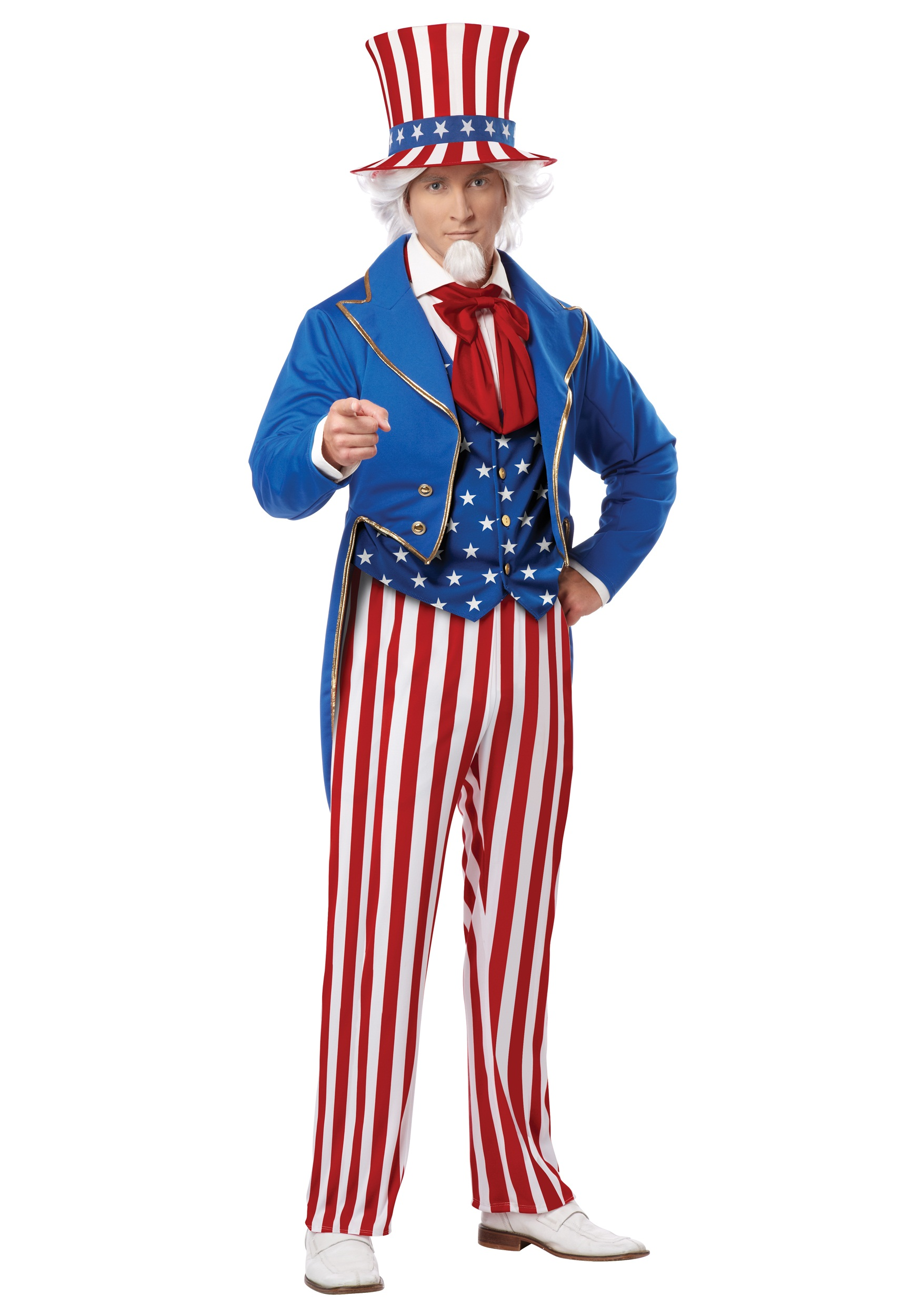 Deluxe Men's Uncle Sam Costume