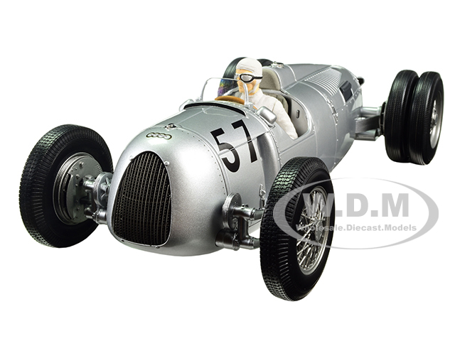 Auto Union Type C 1936 Winner Shelsley Walsh Hillclimb Hans Stuck 57 Limited Edition to 1002pcs with Figure 1/18 Diecast Model Car by Minichamps