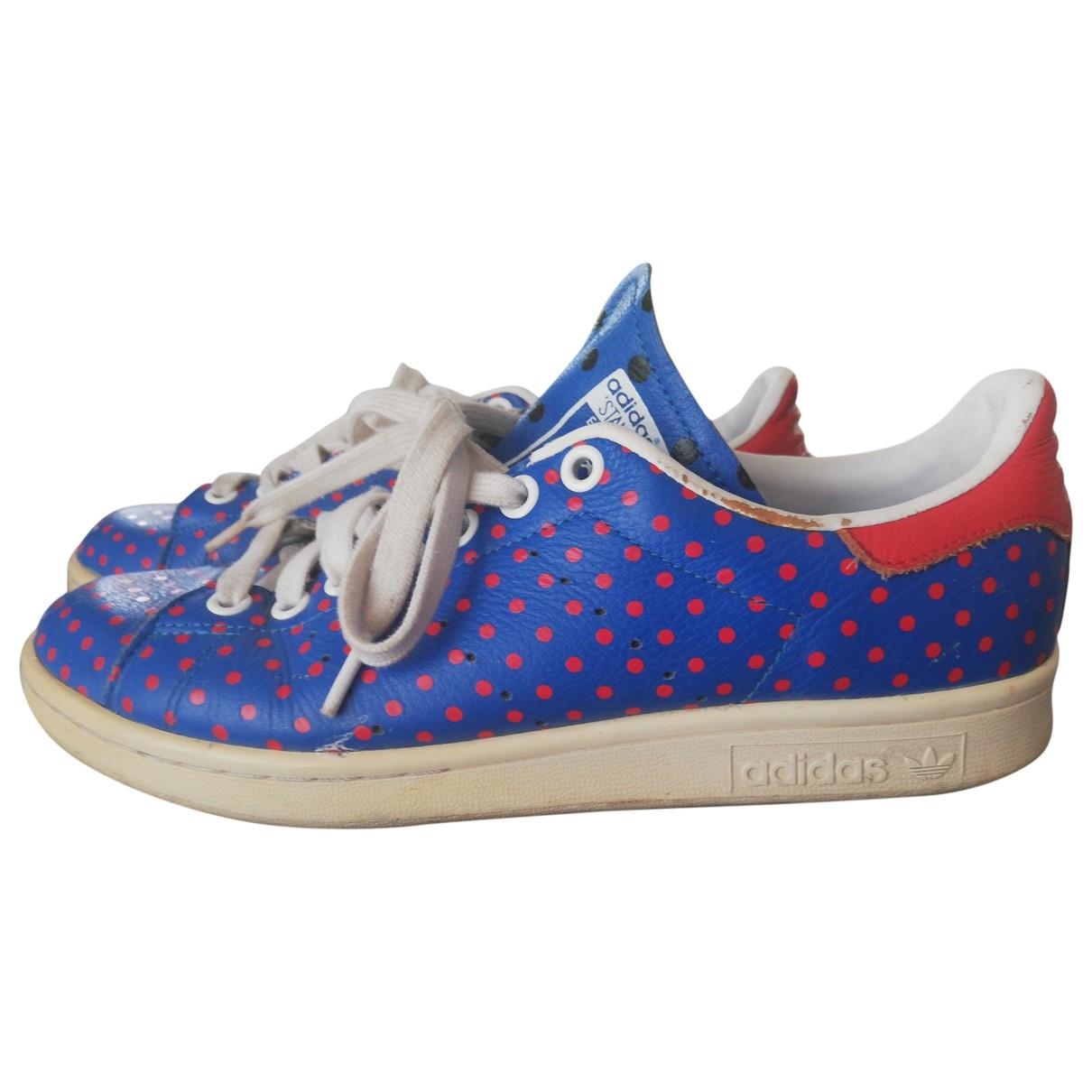 Adidas - Baskets   pour homme en cuir - bleu