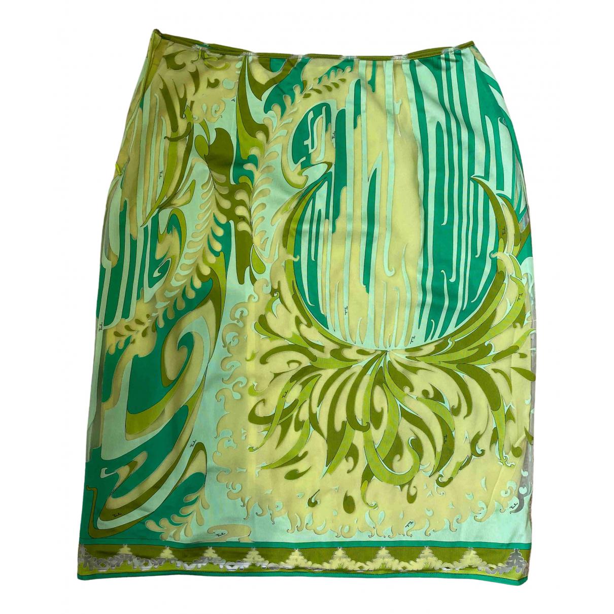 Emilio Pucci - Jupe   pour femme en soie - vert