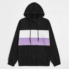 Maenner Hoodie mit Color Blocks