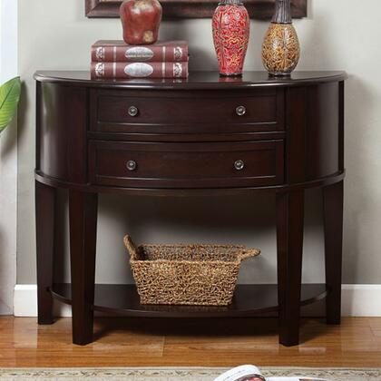 Chanti CM-AC211 Side Table with Transitional Style  2 Drawers and Open Shelf  Solid Wood and Others  Espresso Finish in