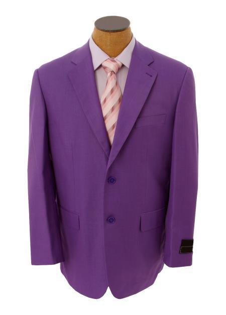 Mens Solid Purple Lavender Blazer