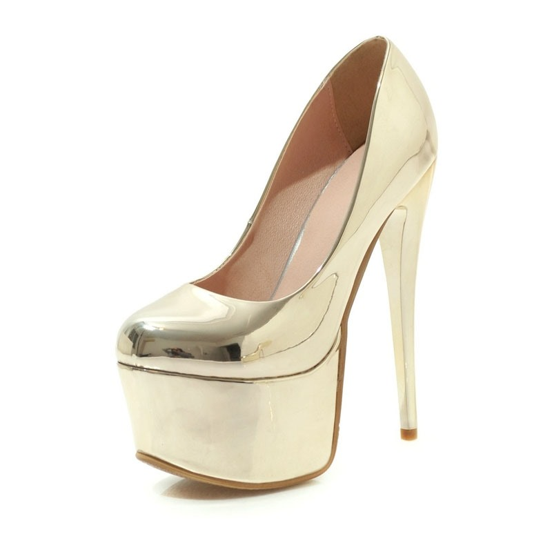 Ericdress Slip-On Platform Stiletto Heel Pointed Toe Women's Prom Shoes