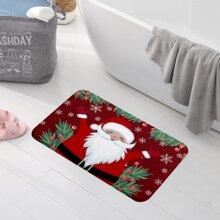 Alfombra de piso con estampado de Santa Claus