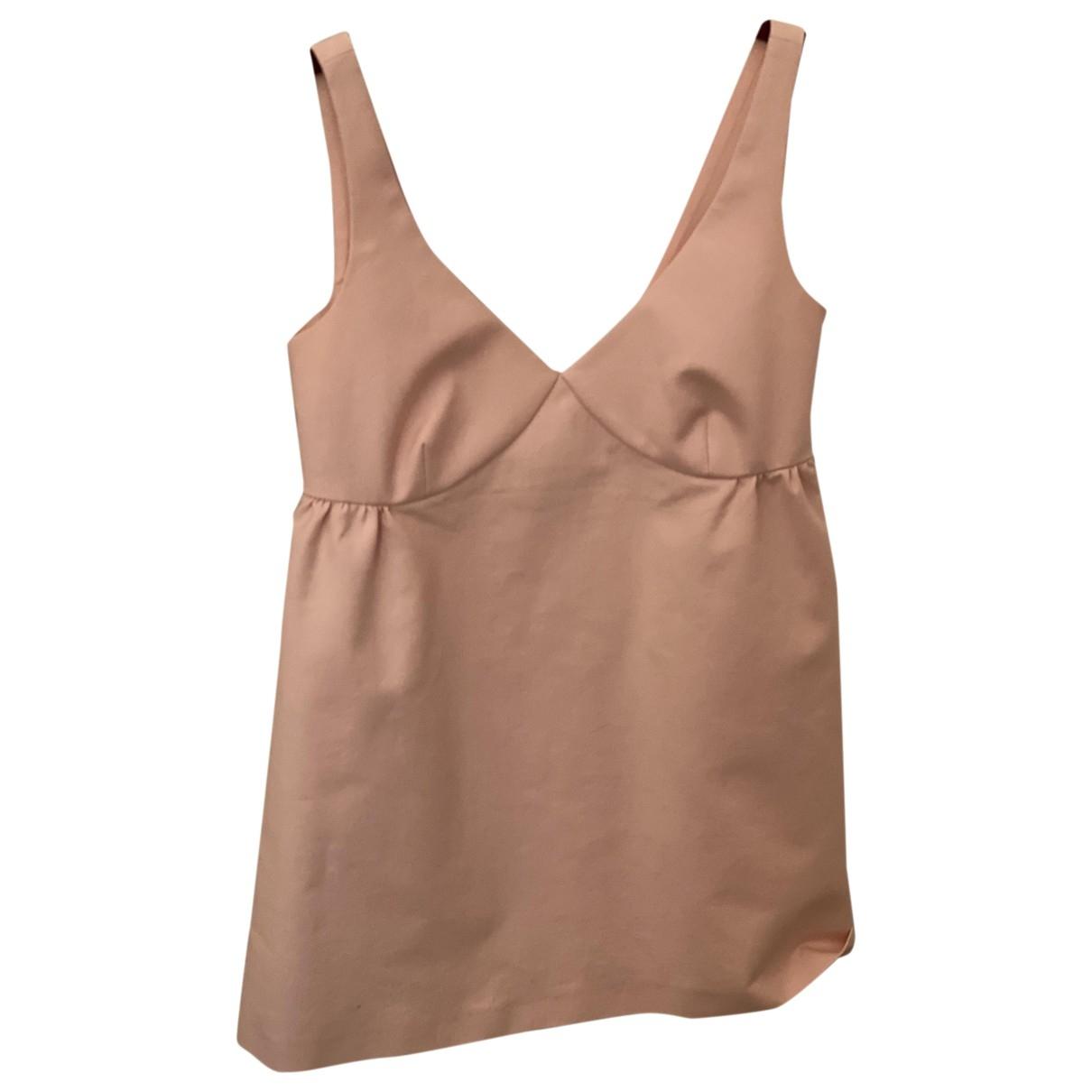 Red Valentino Garavani - Top   pour femme en coton - rose