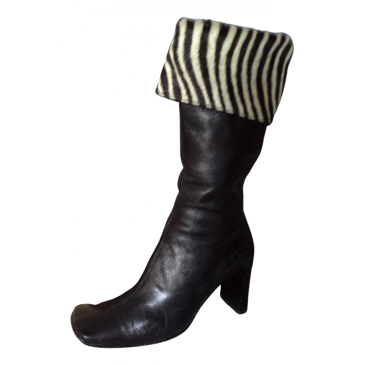 Colisee De Sacha - Bottes   pour femme en cuir - noir