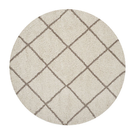 Safavieh Hudson Shag Collection Salome Geometric Round Area Rug, One Size , Multiple Colors