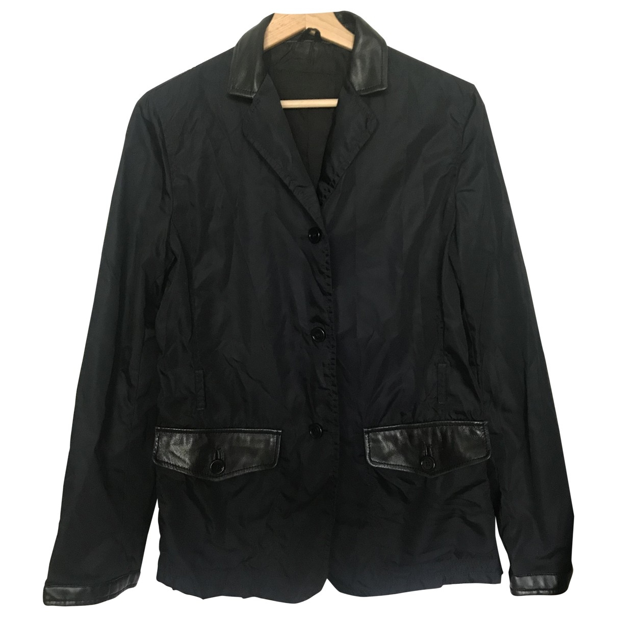Prada \N Navy Leather jacket for Women M
