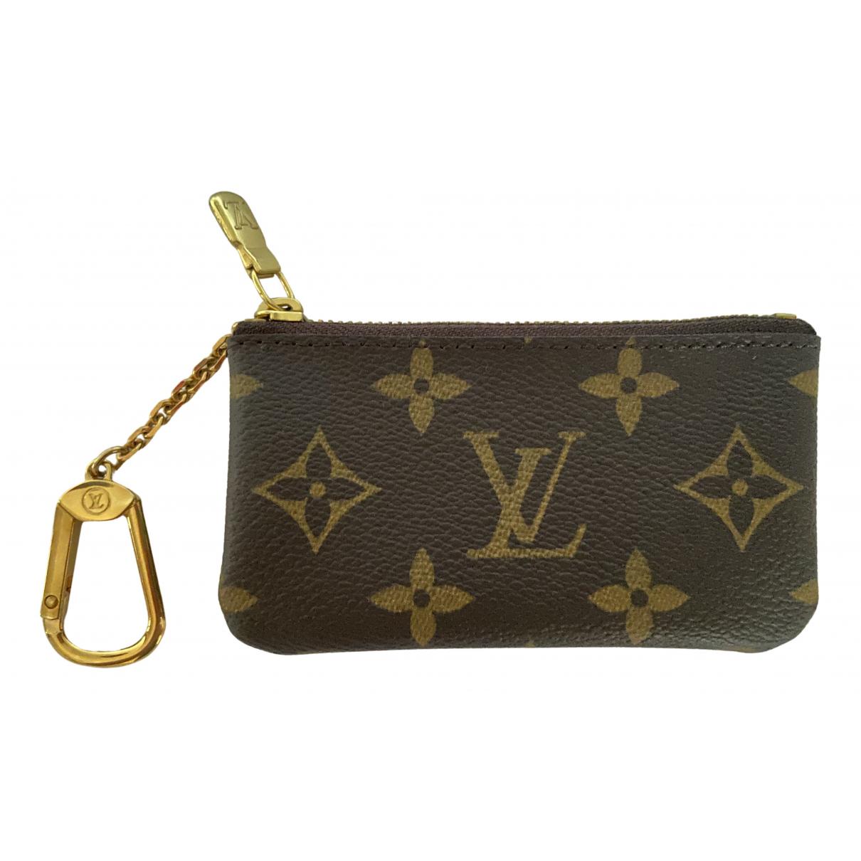 Louis Vuitton Zippy Kleinlederwaren in  Braun Leinen