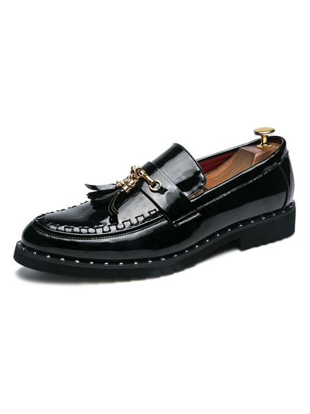Milanoo Mens Loafer Shoes Fashion Low-Tops Cosy PU Leather Slip-On