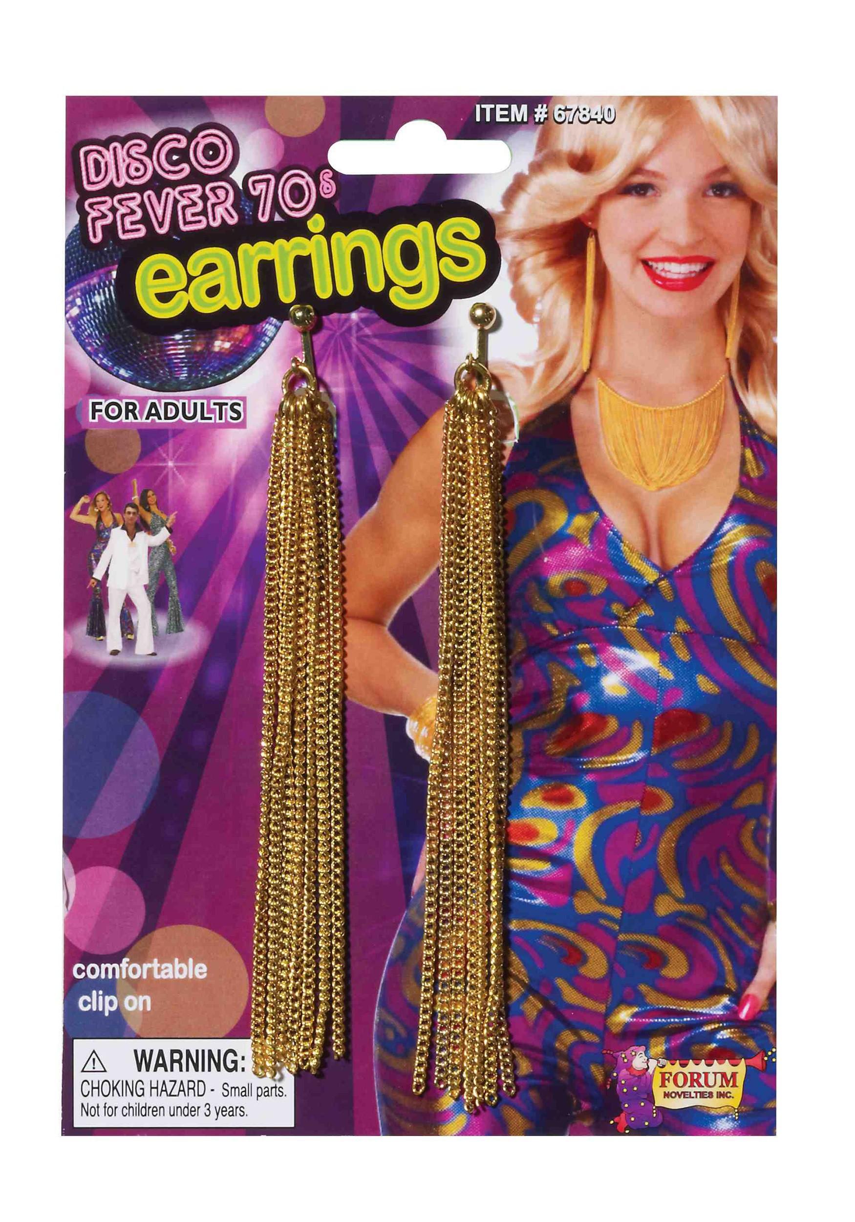 Disco Gold Chain Earrings