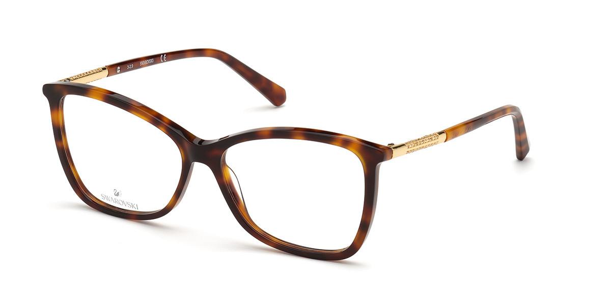 Swarovski SK5384 052 Women's Glasses Tortoise Size 55 - Free Lenses - HSA/FSA Insurance - Blue Light Block Available