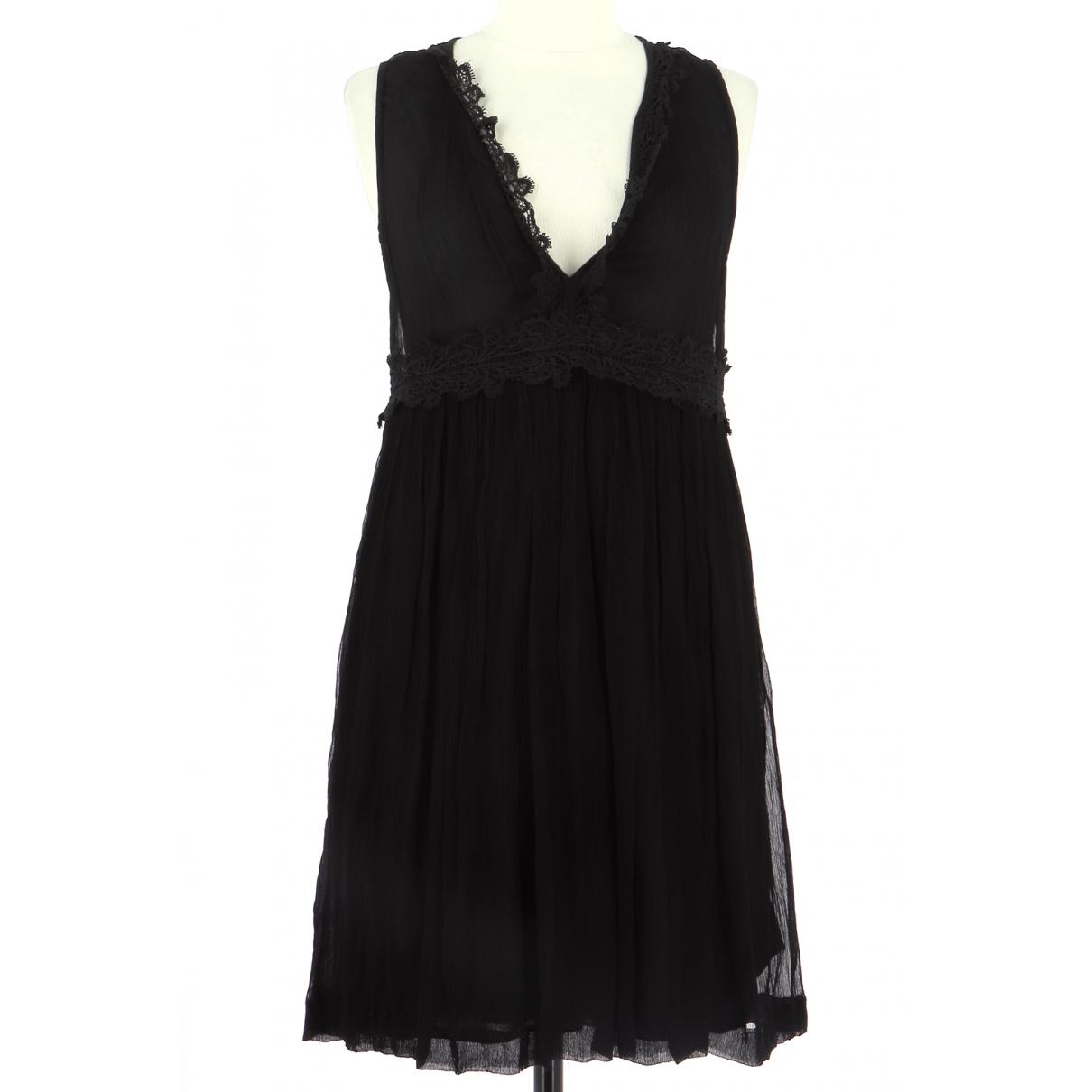 Stella Forest \N Kleid in  Schwarz Viskose