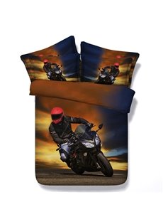 Super Cool Motorcycle 3D Printed 5-Piece Comforter Sets