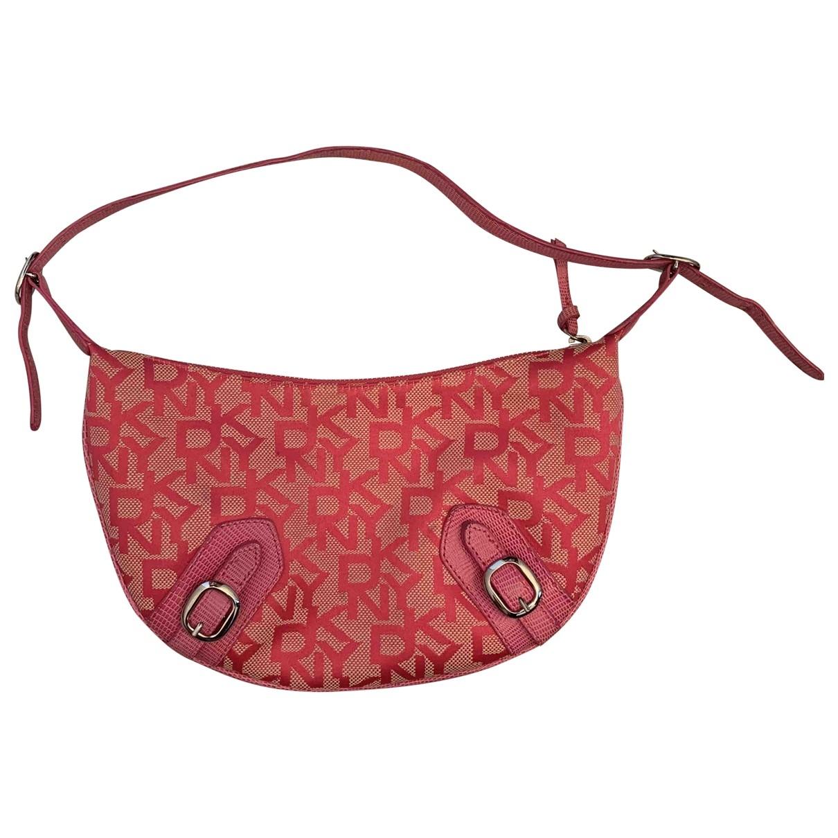Dkny \N Handtasche in  Rosa Leinen