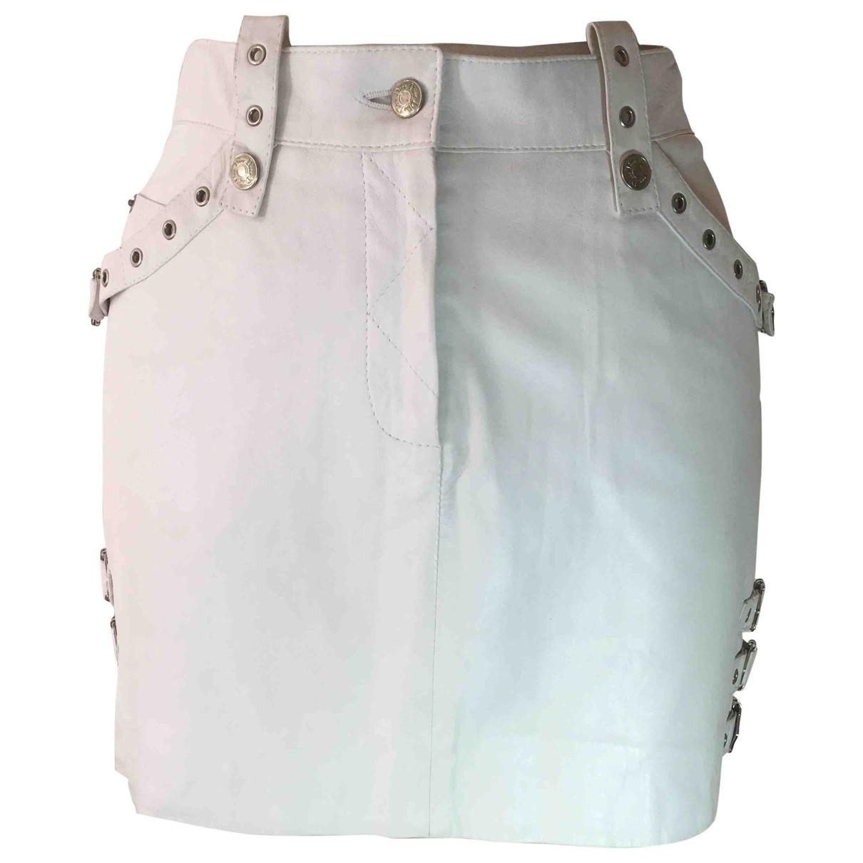 Dior - Jupe   pour femme en cuir - blanc