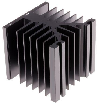 Fischer Elektronik Heatsink, 1.3K/W, 75 x 80 x 78.6mm, Black