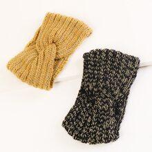 2pcs Twist Knitted Headband