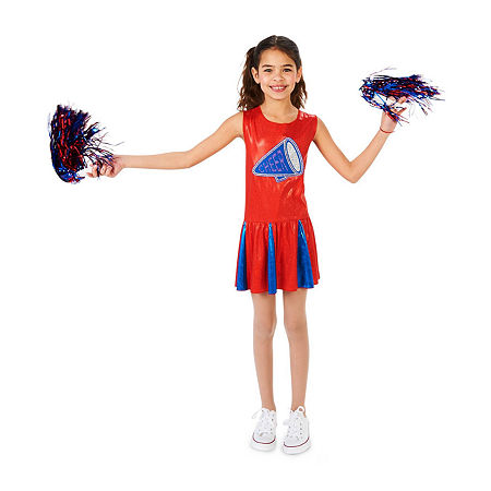 Buyseasons Cheer Team Child Girls Costume, Medium , Multiple Colors