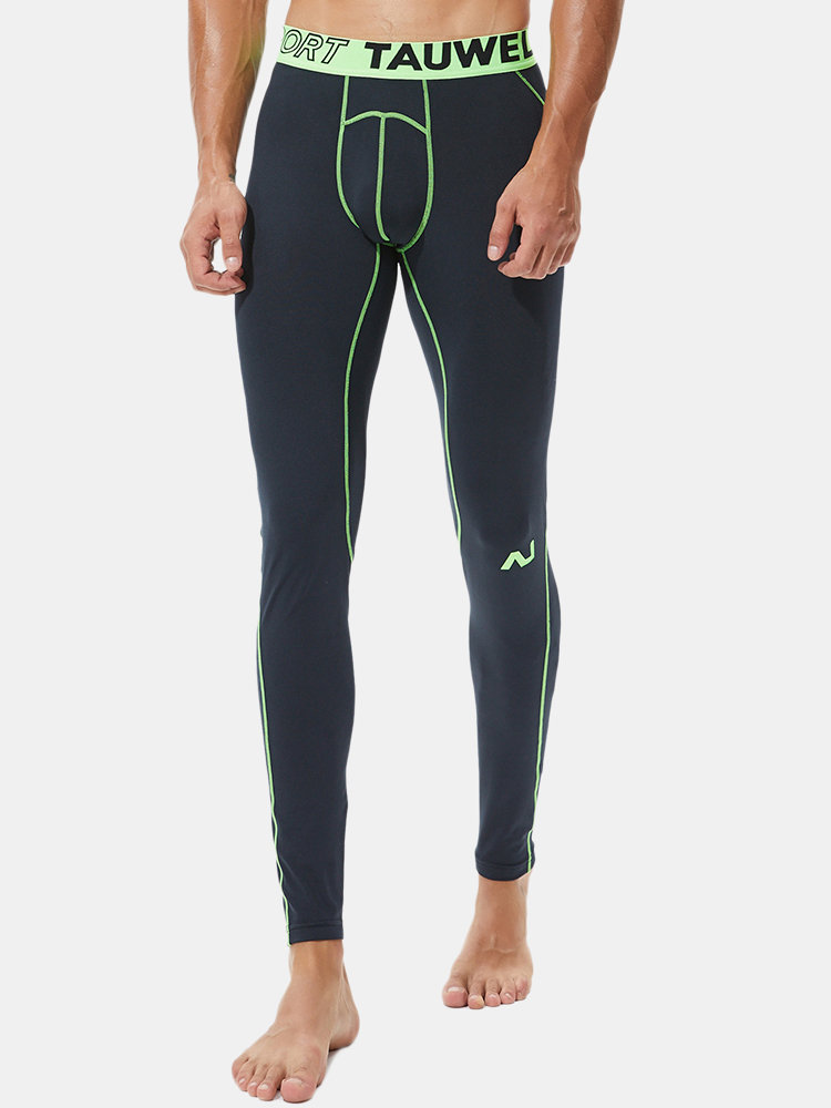 Fitness Skinny Sport Compression Pants Warm Elastic Soft Fabric Thermal Long Johns for Men