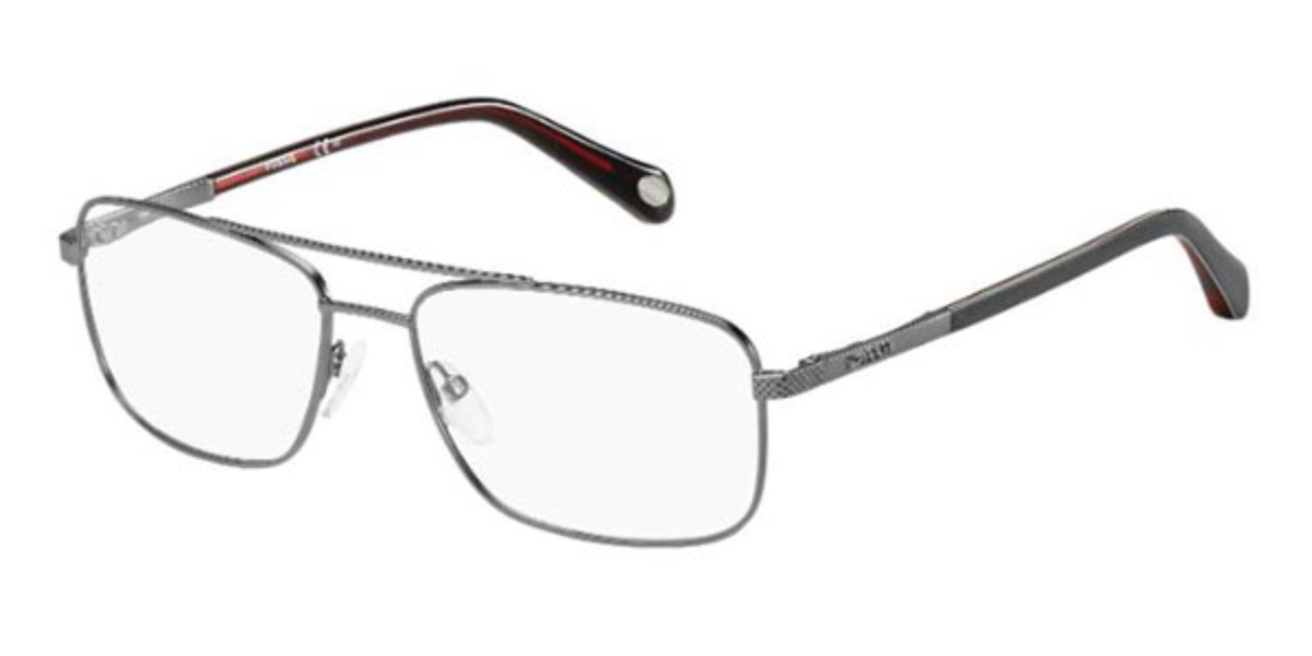 Fossil FOS 6060 OKN Men's Glasses Grey Size 56 - Free Lenses - HSA/FSA Insurance - Blue Light Block Available