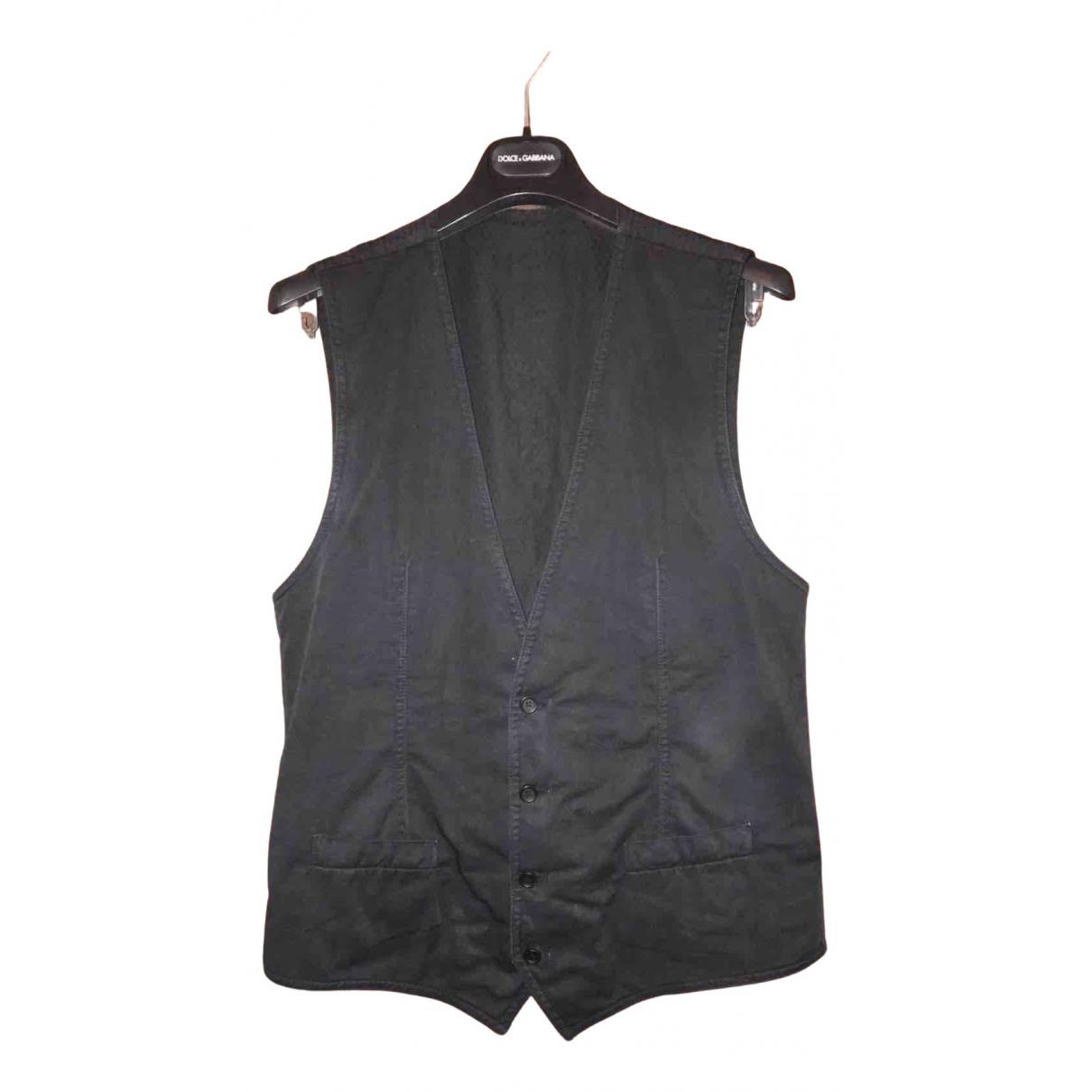 Dolce & Gabbana - Pulls.Gilets.Sweats   pour homme en coton - noir