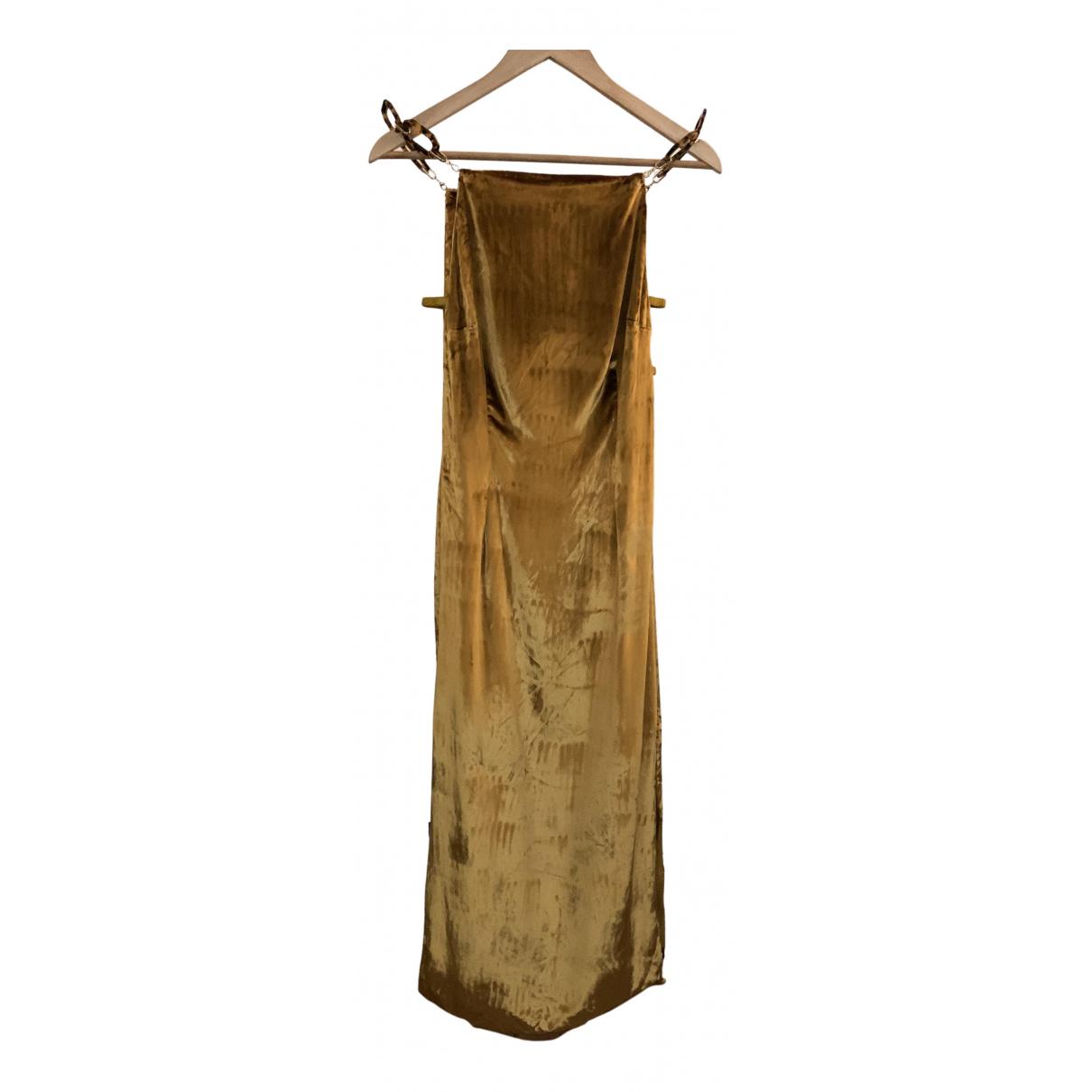 Cult Gaia \N Kleid in  Gold Viskose