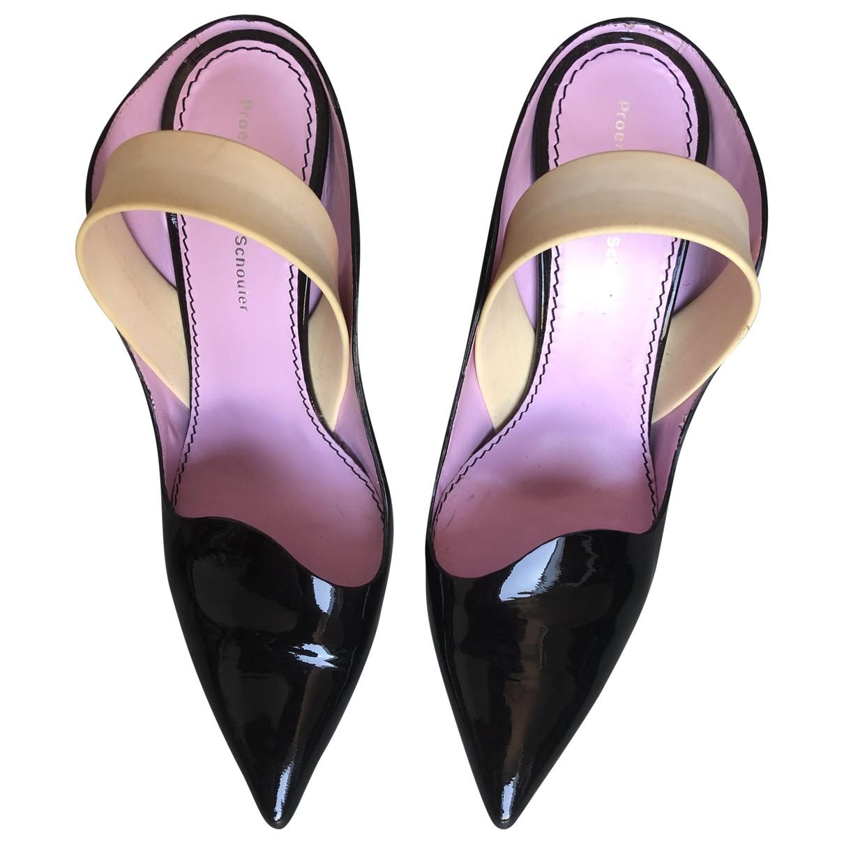 Proenza Schouler \N Black Patent leather Heels for Women 37.5 EU
