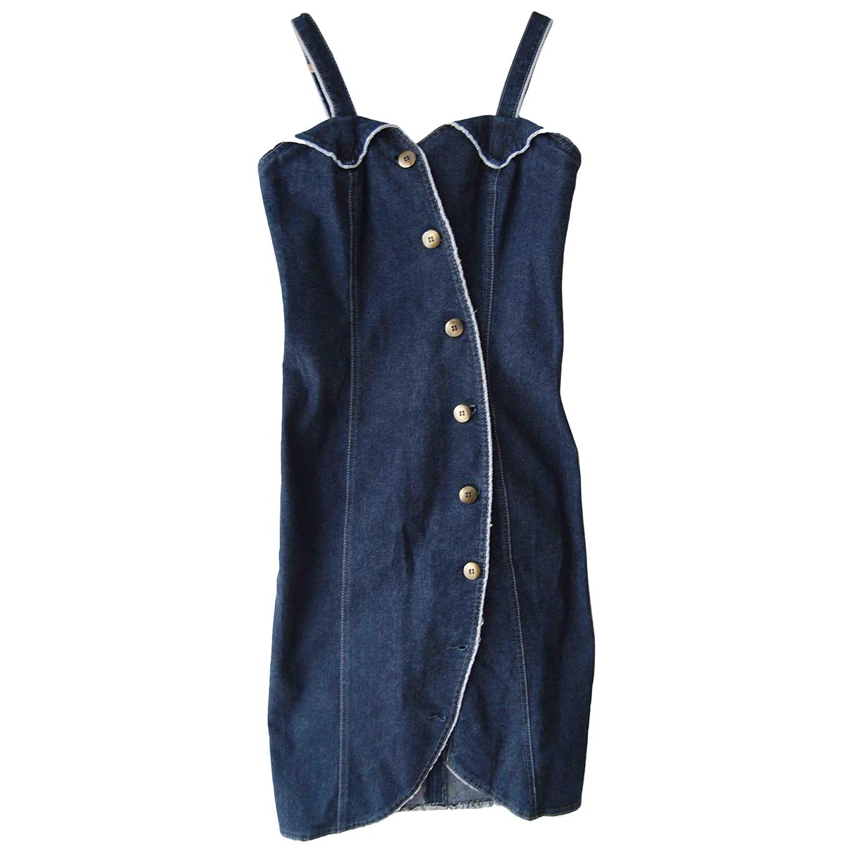 Non Signe / Unsigned \N Kleid in  Blau Denim - Jeans