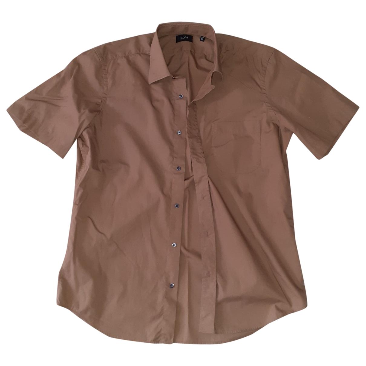 Boss \N Hemden in  Kamel Baumwolle