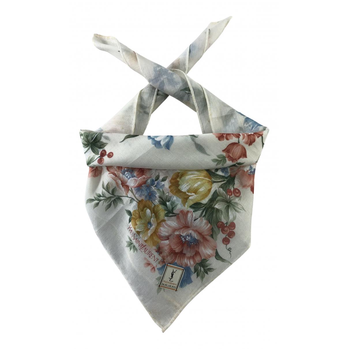 Yves Saint Laurent N Multicolour Cotton Silk handkerchief for Women N