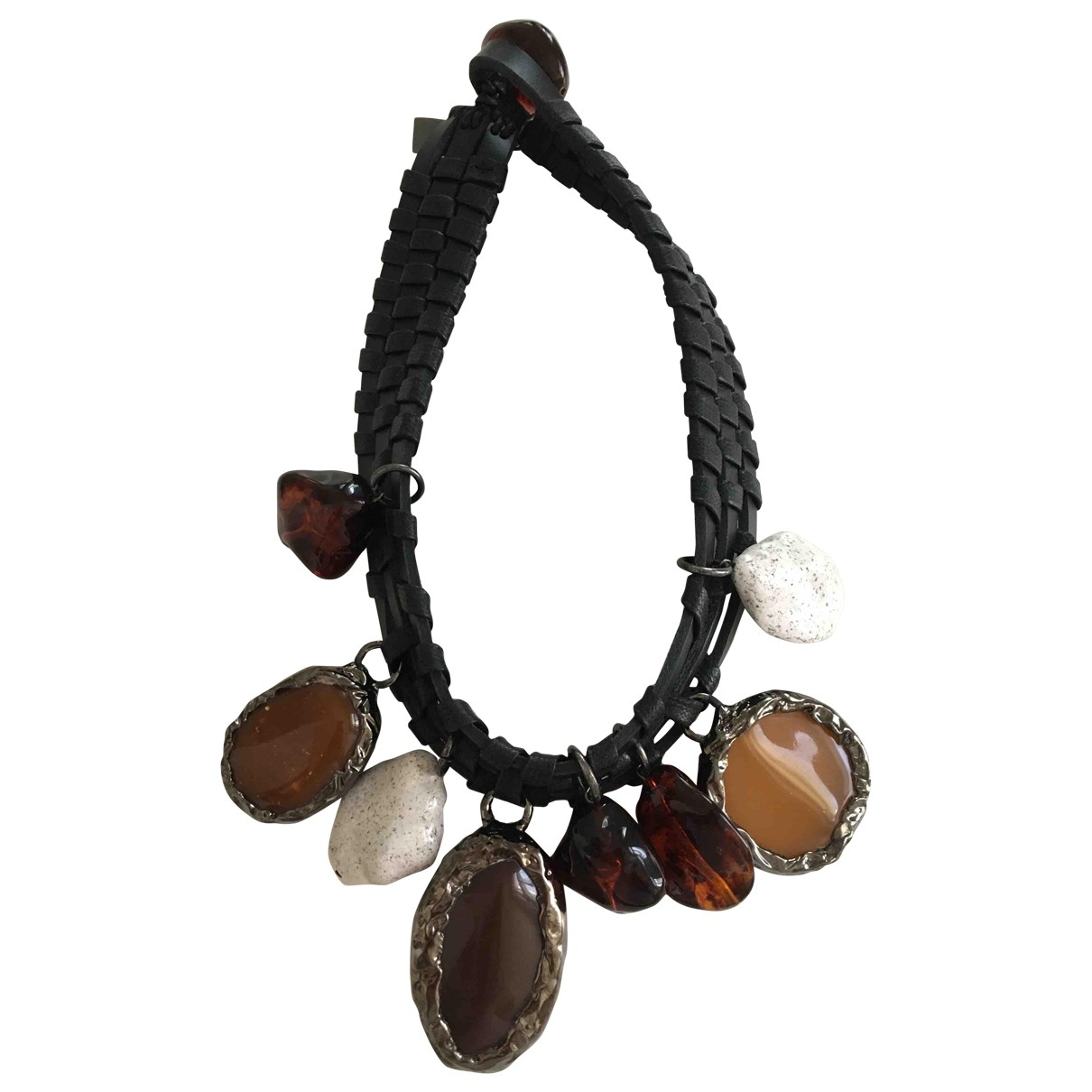 Max Mara \N Multicolour Leather necklace for Women \N