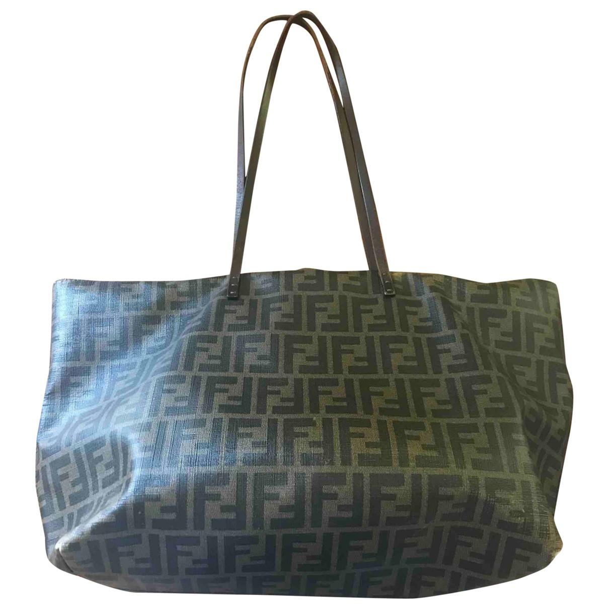 Fendi \N Handtasche in  Braun Leinen