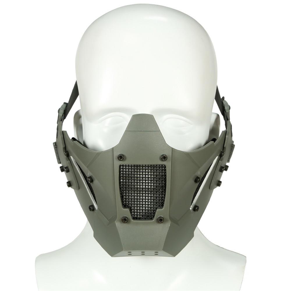 WoSporT MA-95 Module Anti-shock Tactical Half Mask Suitable For AF Helmet Riding