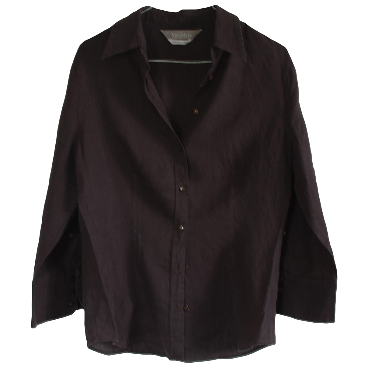 Max Mara \N Anthracite Linen  top for Women 46 IT