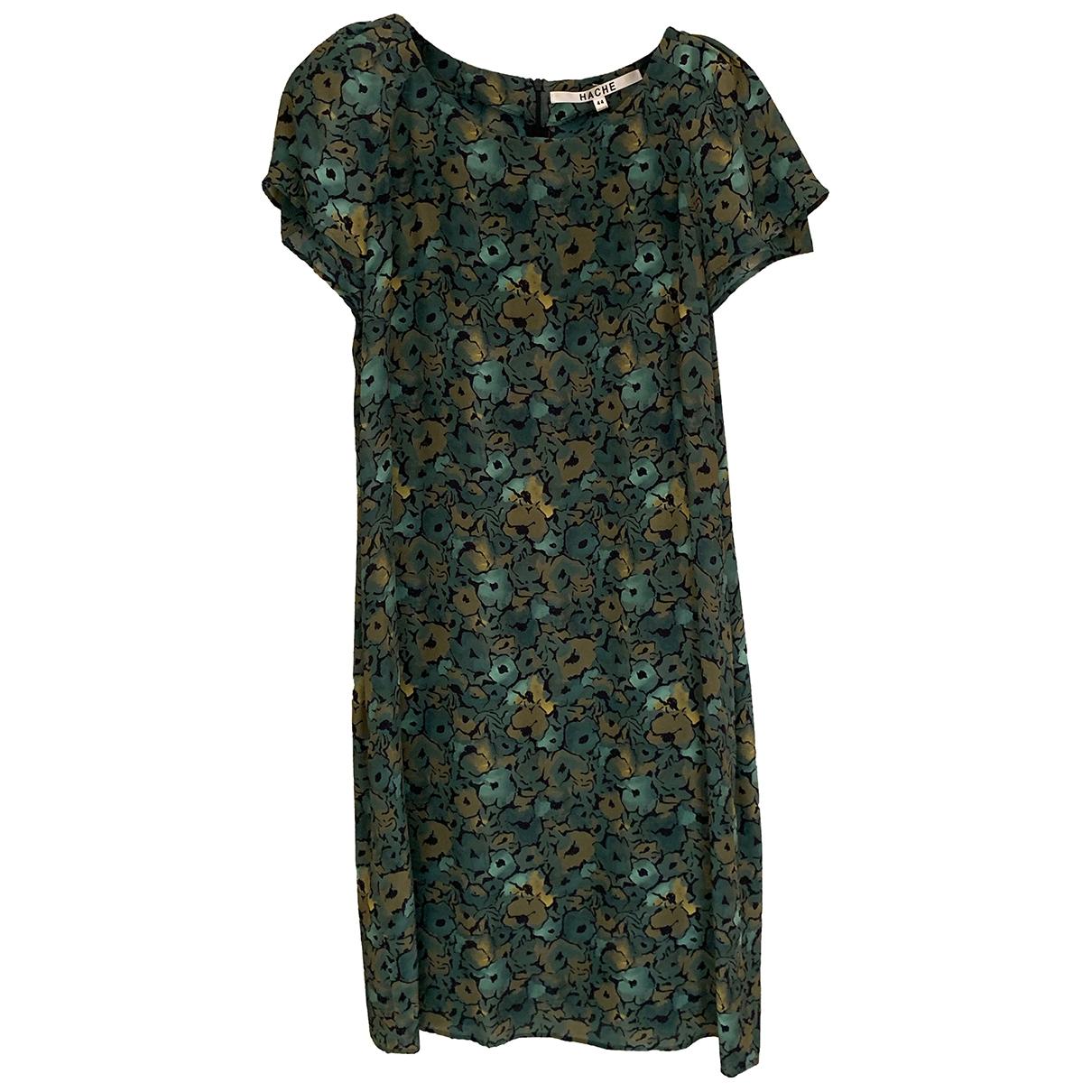 Hache - Robe   pour femme en soie - vert