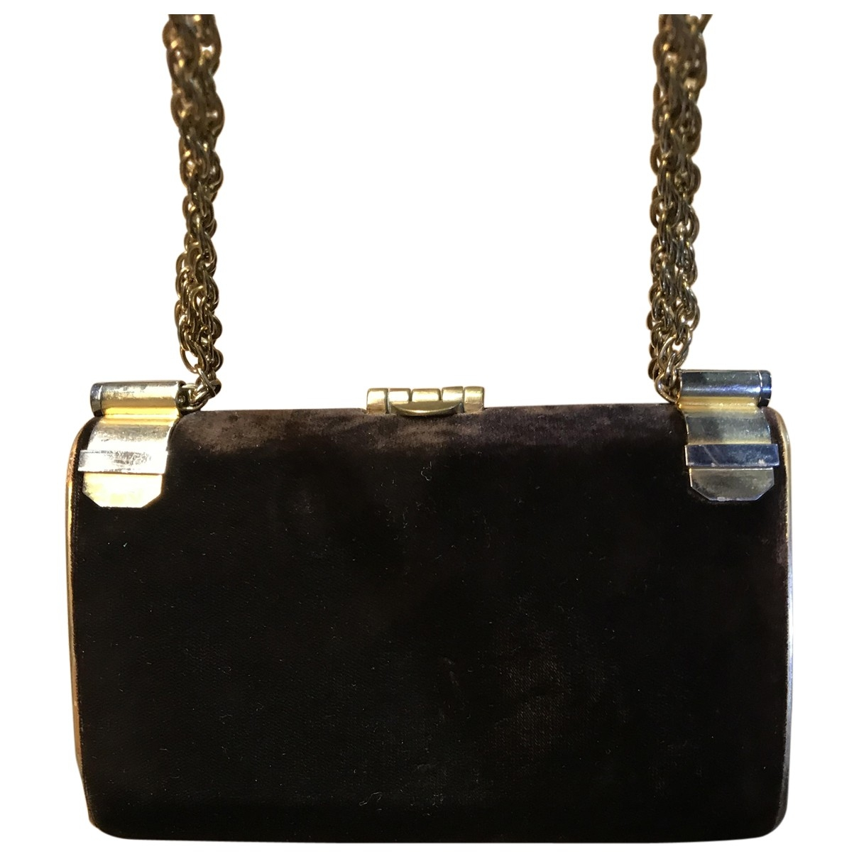 Loewe \N Brown Velvet Clutch bag for Women \N